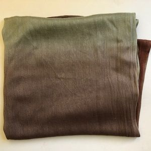 Accessories - Green/Brown Infinity Scarf